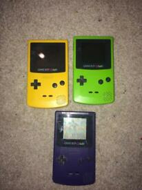 Nintendo gameboy color consoles