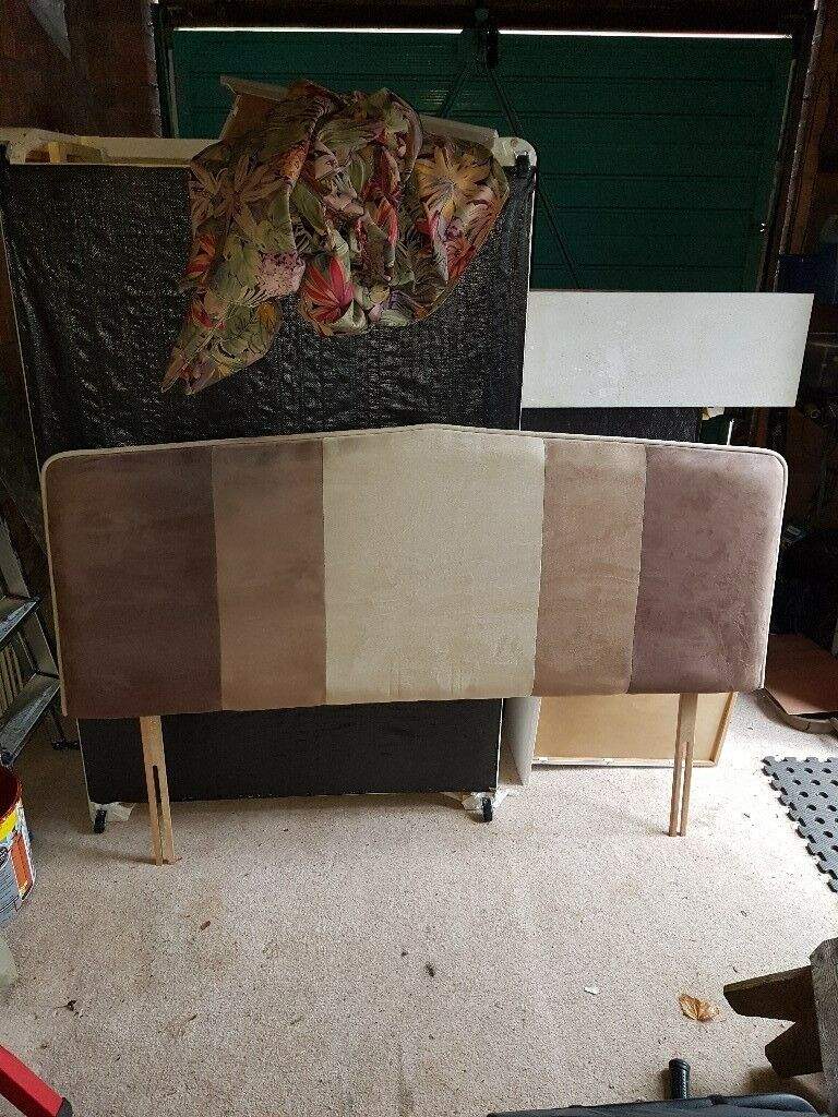 Kingsize suede effect headboard