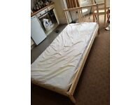 FREE ikea wooden bed frame for only 2 hrs!