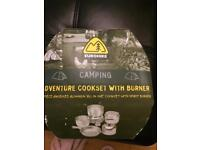 Camping coolest with burner