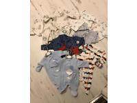 Twin boy baby clothes bundle premature baby