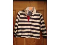 Boys John Lewis rugby shirt 2-3 years