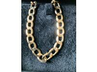 """18"""" solid 9ct gold curb chain"""