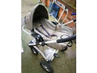 Mutsy 4 rider pushchair and mutsy traveller carseat