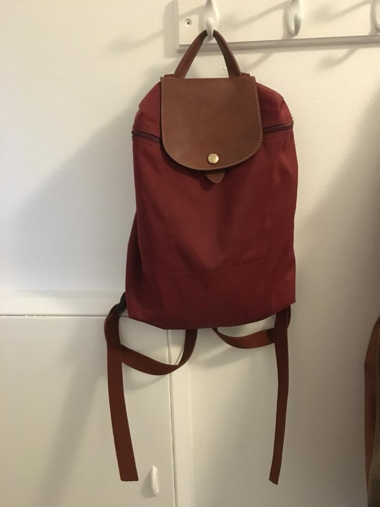 fb0655a0fb7 Longchamp Le Pliage backpack - Burgundy colour   in Chiswick ...
