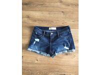 Hollister Dark Denim Shorts- size small