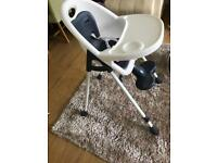 Mamas and papas bop high chair converts to low chair