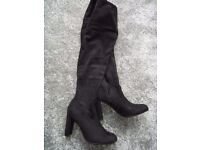 Two pairs of thigh length boots size 9