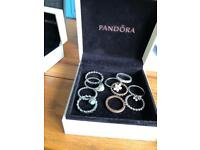 Selection of pandora rings size 52-60