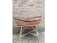 Vintage wicker Moses basket