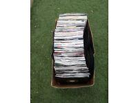 Over 100 6 inch vinyl records
