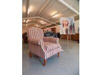 Laura Ashley Cambridge Fabric Armchair Cranberry Stripe