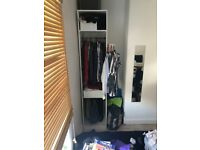 Ikea PAX open tall slim white wardrobe