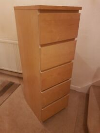 Ikea Malm Tallboy Chest of Drawers - DELIVERY AVAILABLE