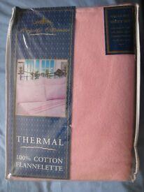 SINGLE BED SHEET SET Thermal Flannelette 100% cotton