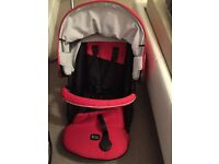 Britax B-SMART 4 carry cot and pram with rain cover - Chili Pepper