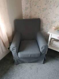 Ikea jennylund grey armchair
