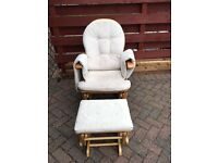 Nursing Rocking chair and matching stool