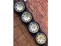"5x100 18"" Staggered ispiri CSR2 alloy wheels Vw Golf mk4 Bora Seat Leon mk1 Skoda Audi"