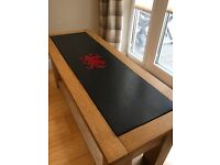 Solid Oak with Welsh Dragon engraved Slate top Coffee Table *FULLY CUSTOMISABLE *