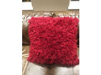 Christmas red cushions