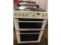 £135 _ HOTPOINT 60 CM WIDE ELECTRIC COOKER WITH DOUBLE OVEN- GUARANTEED