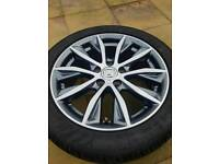 Honda original alloys with 4 good tyres