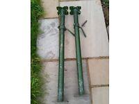 2 x size 0 Acrow Props (1.1m - 1.8m)