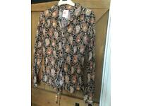 Vintage ladies shirt size 14 paisley made in the uk st michaels