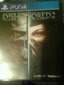 Ps4 game dishonored 2 in excellent condition.
