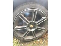 Seat Leon Cupra R FR alloy wheels 18 inch seat sport bbs set x4 alloys with tyres 5x112 fits others