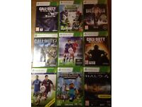 Xbox 360 with 9 games which include Minecraft, FIFA and COD and controller