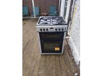 Bush Dual Fuel Freestanding Cooker Double Oven Grill Gas Hob