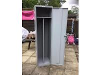 Large metal clothes locker