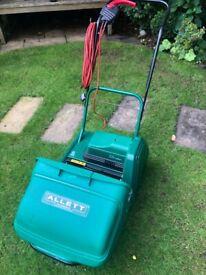 Allett Classic 12E Plus Lawnmower with scarifying cassette attachment
