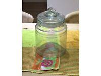 Anchor Glass large gorgian cookie jar with airtight seal