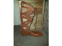 Lace up sandals. Size 5.