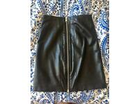 All Saints Real Leather Pencil Skirt