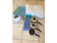 Household Items, Single 10.5 Tog Quilt & Cover, Tefal Saucepans, Toaster etc