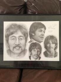 Beatles pencil sketch.