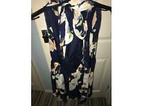 Floral wrap around playsuit - s/m
