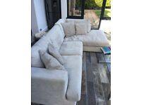 Corner silver grey fabric sofa, excellent condition, huge discount from item in Next