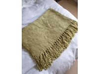 Green Fringed Throw Brand New Condition