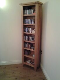 Solid Oak Bookcase or CD Case