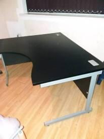Black cantilever desk