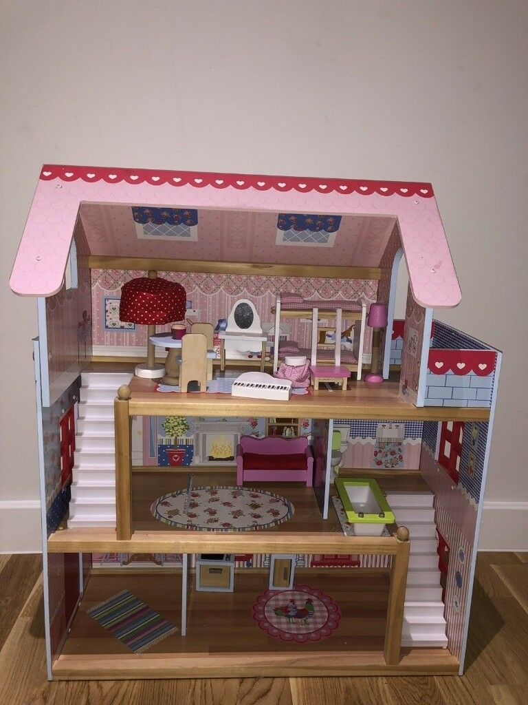Kidkraft 65054 Chelsea Doll Cottage Wooden Dolls House With Furniture In Feltham London Gumtree