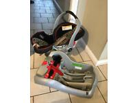 Baby seat with two car bases
