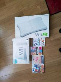 Wii bundle with fitness board & games
