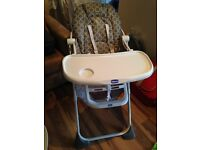 Barely used high Chair from Chicco. In perfect conditions.