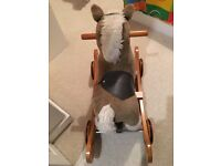 Mamas & Papas Rocking Horse / sit on Wheel Along Horse
